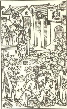 Выступление папы Урбана II на Клермонском соборе
